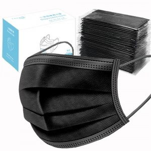 50pcs Masque Chirurgical Noir