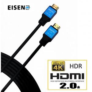 Eisen Cable Hdmi 2.0 High Speed 4K 24K Gold 1.80M
