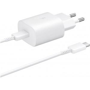 SAMSUNG EP-TA800XWE Chargeur Rapide Blanc 25W USB-C to C